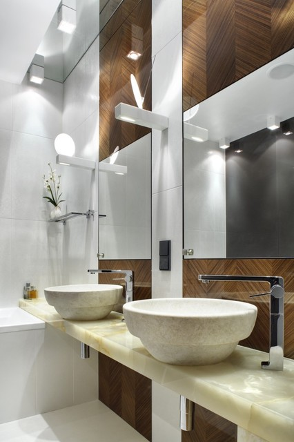 House in Warsaw contemporary-bathroom