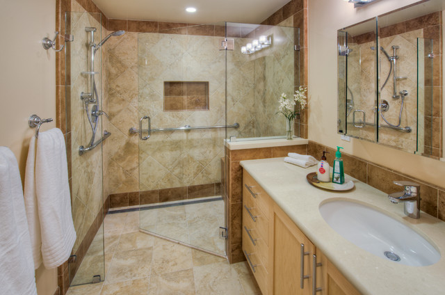 Transitional Bathroom by HOUSEworks Design/Build General Contractor - How To Design An Accessible Shower