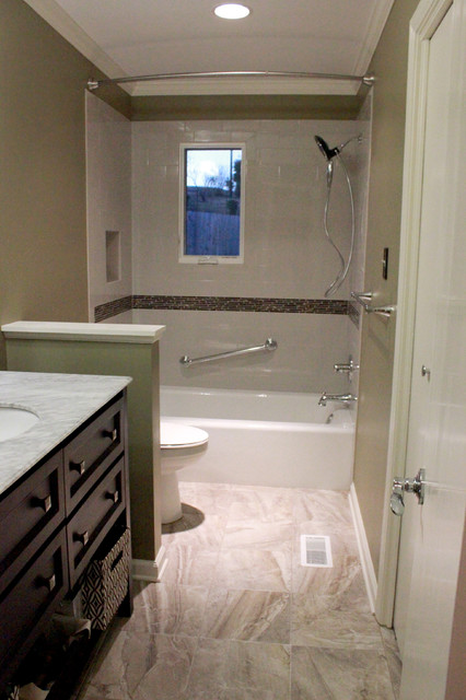 Houston avenue bath transitional bathroom birmingham for Bathroom design birmingham