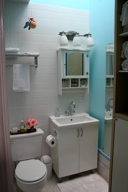 Houzz tour small eclectic san francisco family home for Small family bathroom design