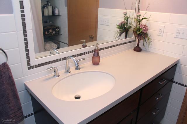 Pretty Practical Bathroom Remodel Contemporary