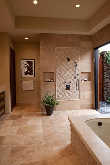 Hualalai Earthy Haven Tropical Bathroom Hawaii By