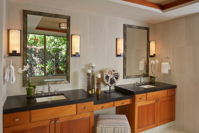 Hualalai Modern Mix Tropical Bathroom Hawaii By Henderson Design Group