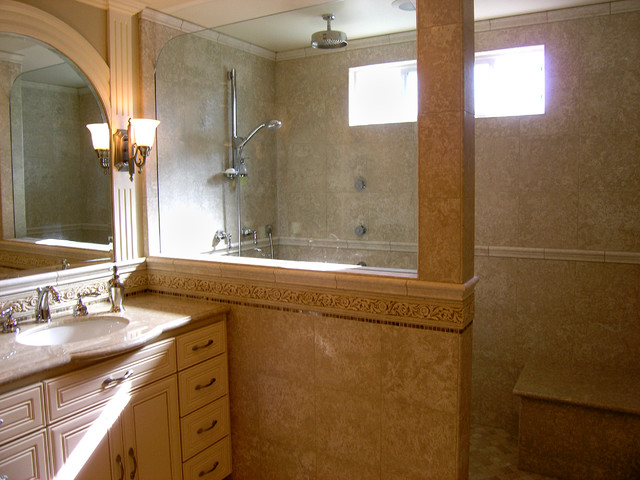 Huntington beach master bath remodel traditional for Bath remodel orange county
