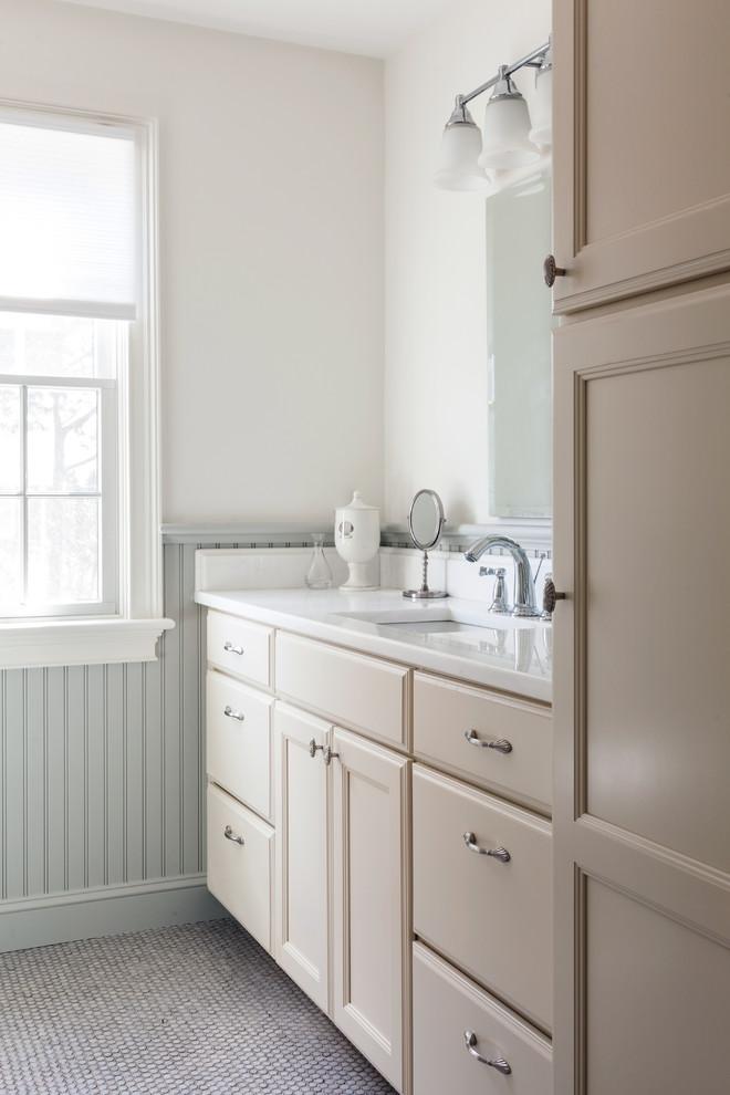 Bathroom - coastal bathroom idea in Boston