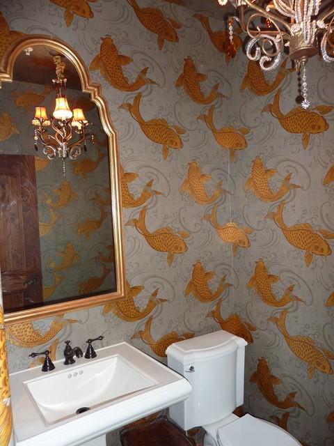 I miss my koi pond traditional bathroom san for Koi wallpaper for walls
