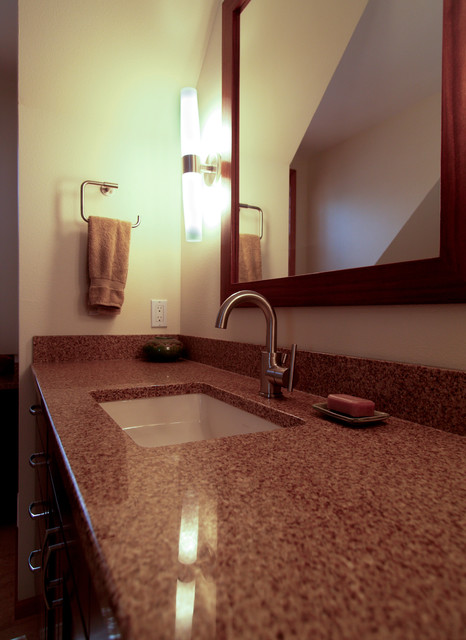 I would like Modern with an Ethnic Pop... contemporary-bathroom