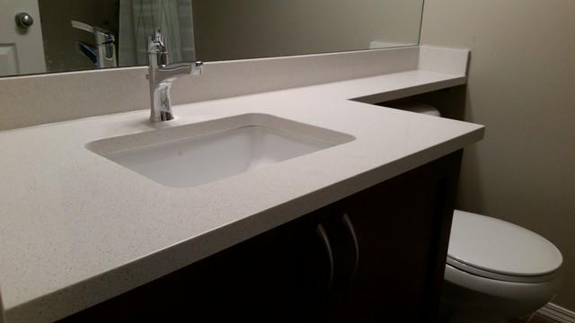 Ice Snow Quartz (Caesarstone) Modern Bathroom