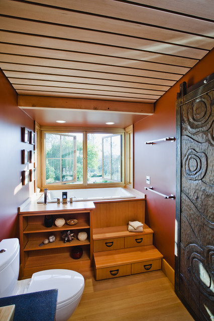 IdeaGarden zen bathroom/tub farmhouse-bathroom