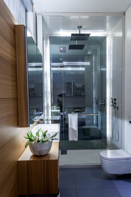 IDS West . H&L Laneway Home Feature modern-bathroom