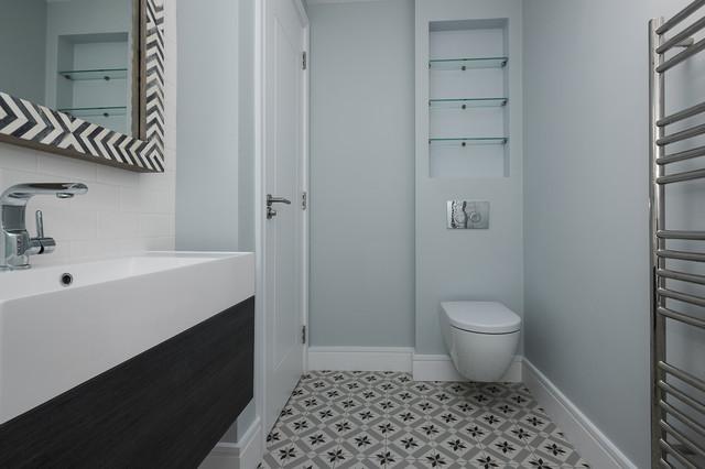 ifield road full renovation minimalistisch badezimmer london von grand design london. Black Bedroom Furniture Sets. Home Design Ideas
