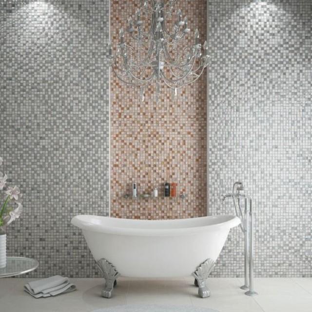 Imperium Silver Mosaic Tiles Direct