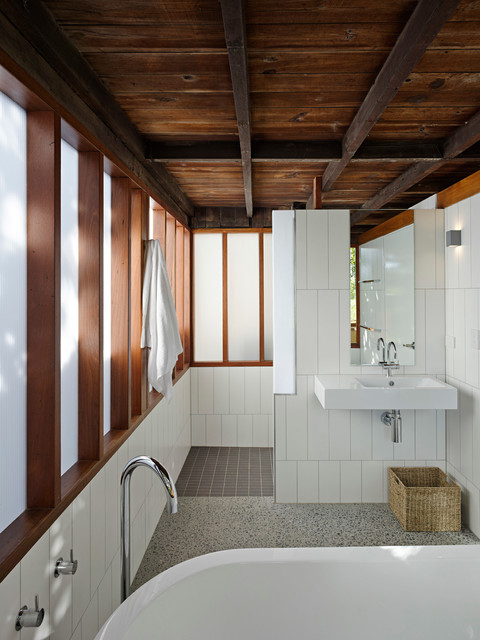 In between room contemporary bathroom brisbane by phorm architecture design - The reason behind the growing popularity of the contemporary sofa ...