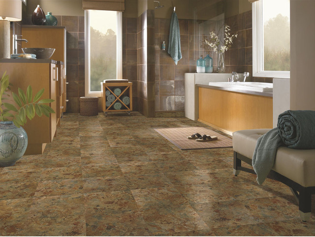 In Stock Peel And Stick Vinyl Contemporary Bathroom