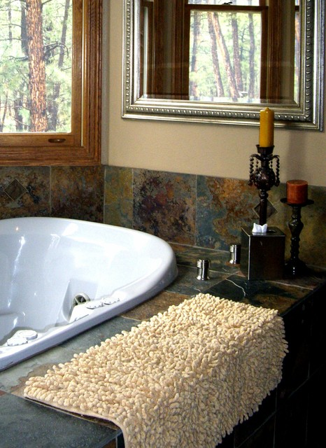 In The Mountains rustic-bathroom
