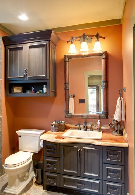 Indian Lakes Mountain Lodge Style Rustic Bathroom