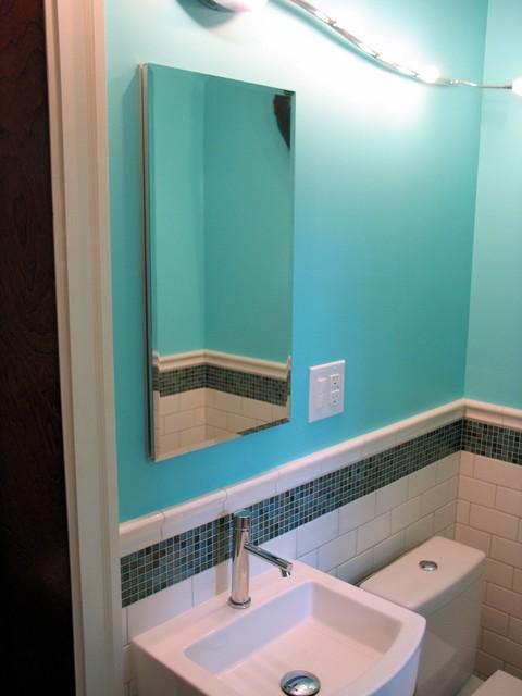 Indianapolis Boy's Bath Renovation in Meridian-Kessler eclectic-bathroom