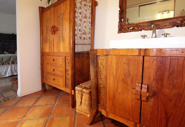 Indonesian Bathroom Cabinets Eclectic Bathroom Orange County By Shelley Gardea