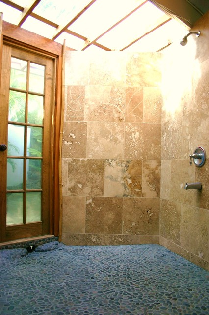 Indoor Outdoor Showers Tropical Bathroom Hawaii By