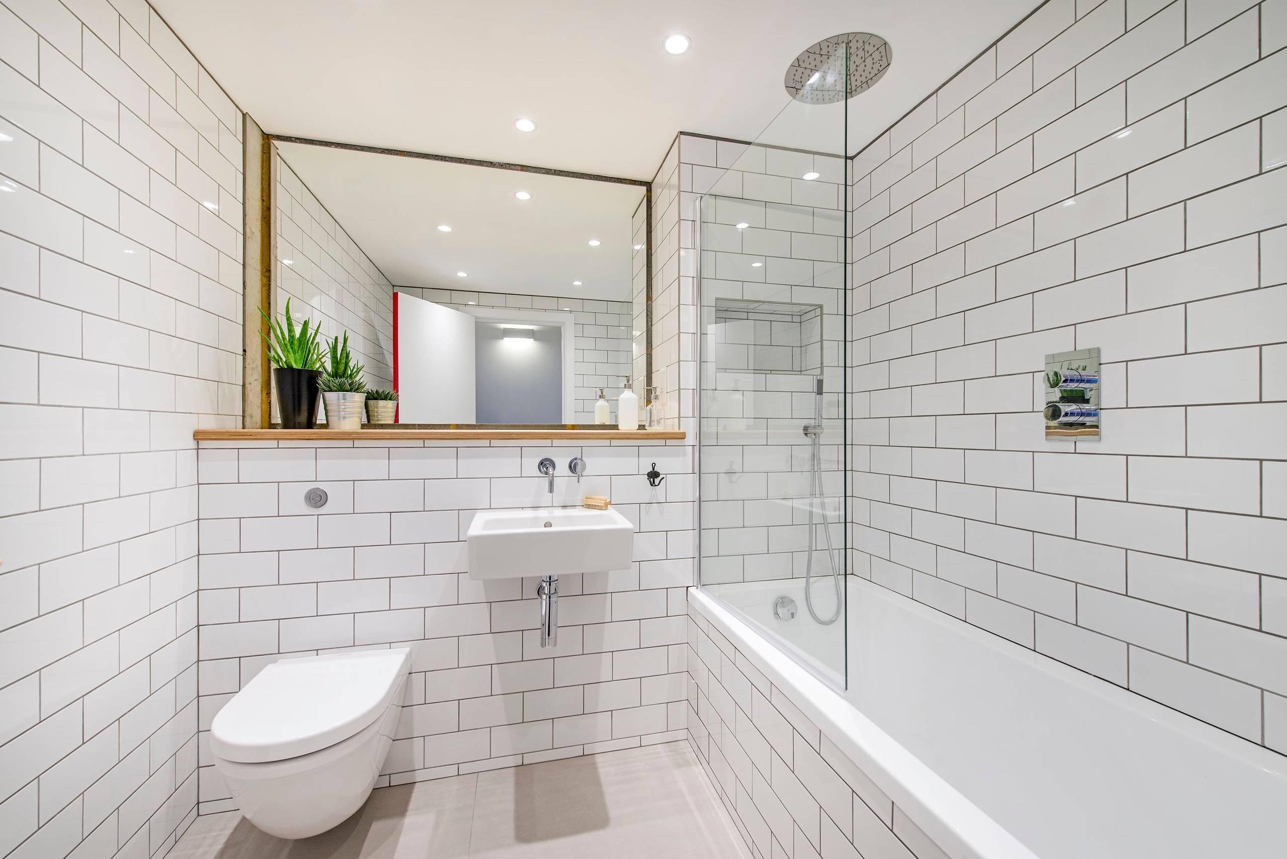 20 schicke Badezimmer mit Metro Fliesen