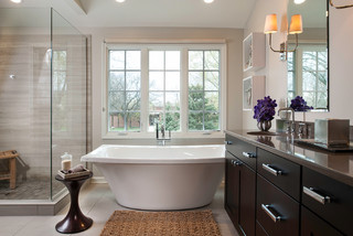 Industrial Contemporary Transitional Bathroom Chicago By Savvy Interi