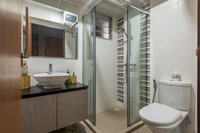 Industrial Design (Yishun St 51 HDB 4 Room) Industrial Bathroom