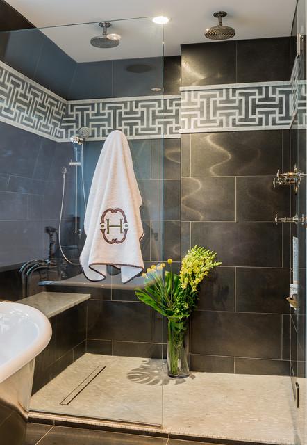 Industrial Master Bath industrial-bathroom