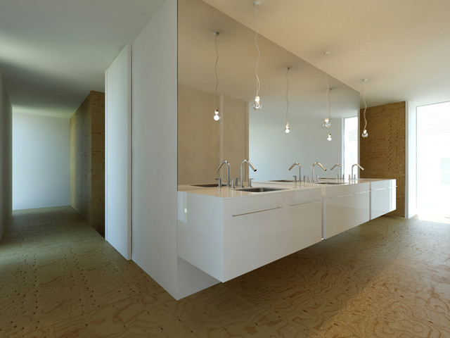 INFILL | high performance homes, completely delivered from $198k modern-bathroom
