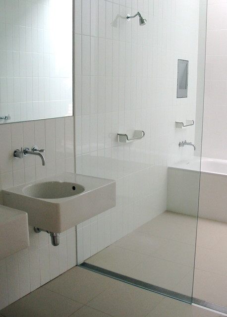 Infinity Drain Barrier Free Wet Room Contemporary
