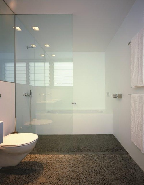 Infinity drain wet room threshold drain contemporary for Wet area bathroom ideas
