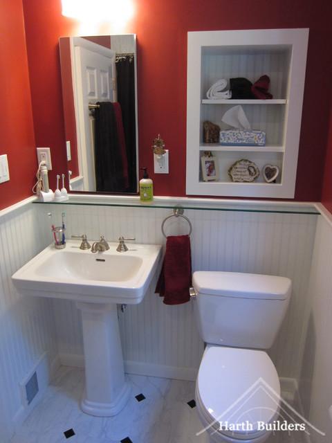 Inset Shelving traditional-bathroom