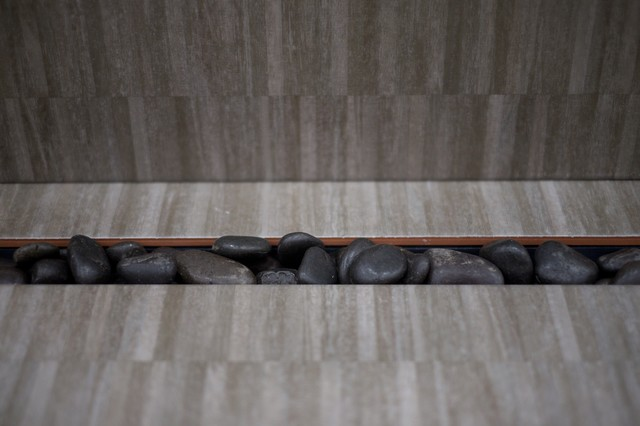 Installing Drain as an Open Trench filled with smooth stones  glass beads or. Installing Drain as an Open Trench filled with smooth stones