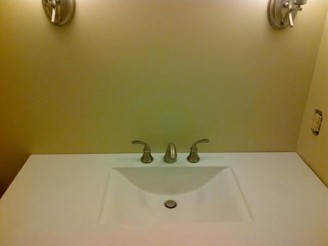Integral Wave Sinks traditional-bathroom