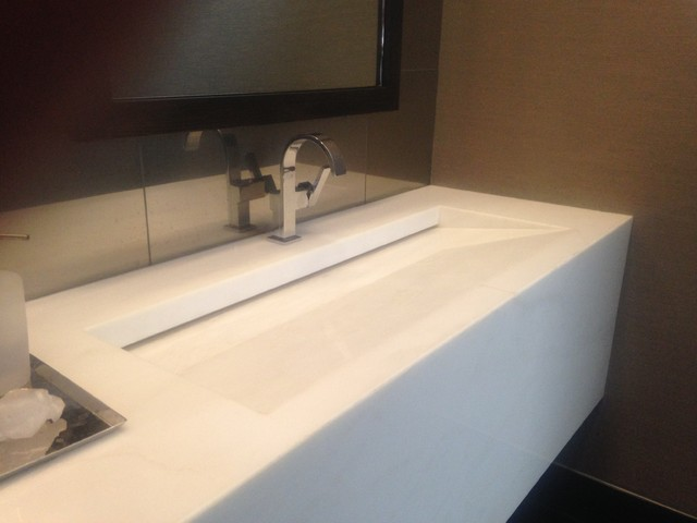 integral bathroom sink integrated ramp sink contemporary bathroom 13268