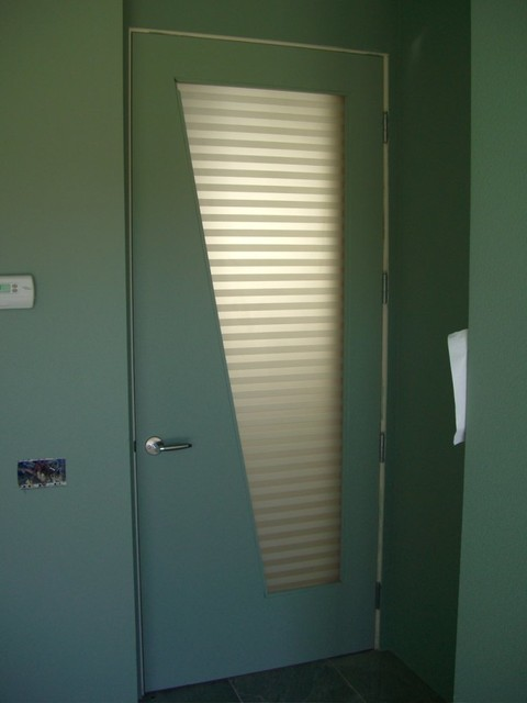 Interior Glass Doors With Obscure Frosted Glass Designs Sleek Bands Door Modern Bathroom Other By Sans Soucie Art Glass