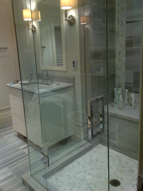 Interior reno-North York Ontario contemporary-bathroom