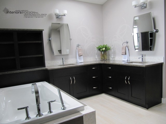 Interiors By Design Contemporary Bathroom Edmonton By Michelle Yaworski Gem Cabinets Ltd