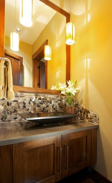 Interiors for a new custom home modern-bathroom