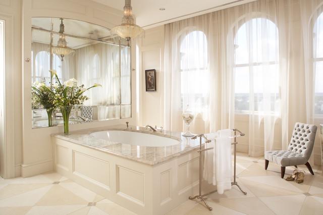 Traditional Bathroom Idea In Charleston With An Undermount Tub