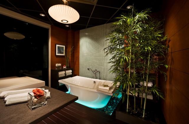 Intuitive Lighting Control asiatisk-badrum
