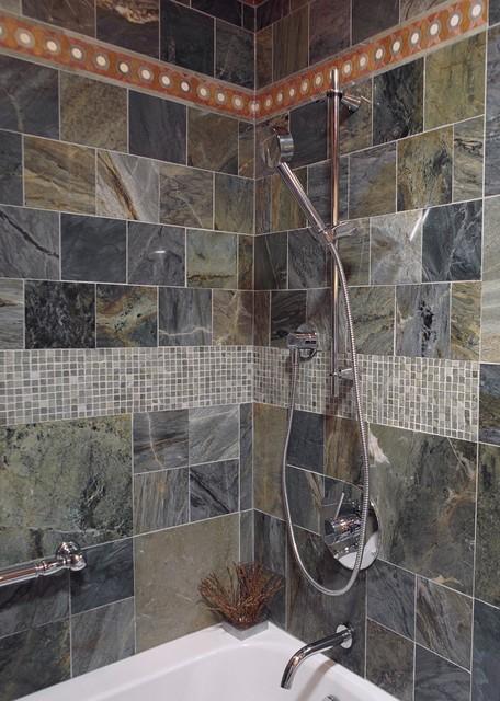 Creative Gehan Homes Master Bathroom  Dark Wood Cabinets Drop In Tub Granite