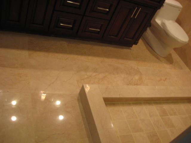 Saturnia Marble Flooring : Inverrary bathroom saturnia marble