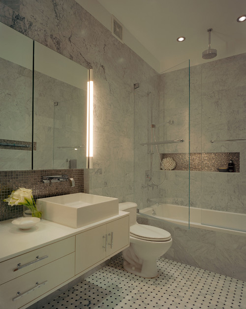 Diseno De Baños Normales:Bathroom Recessed Shower Niche