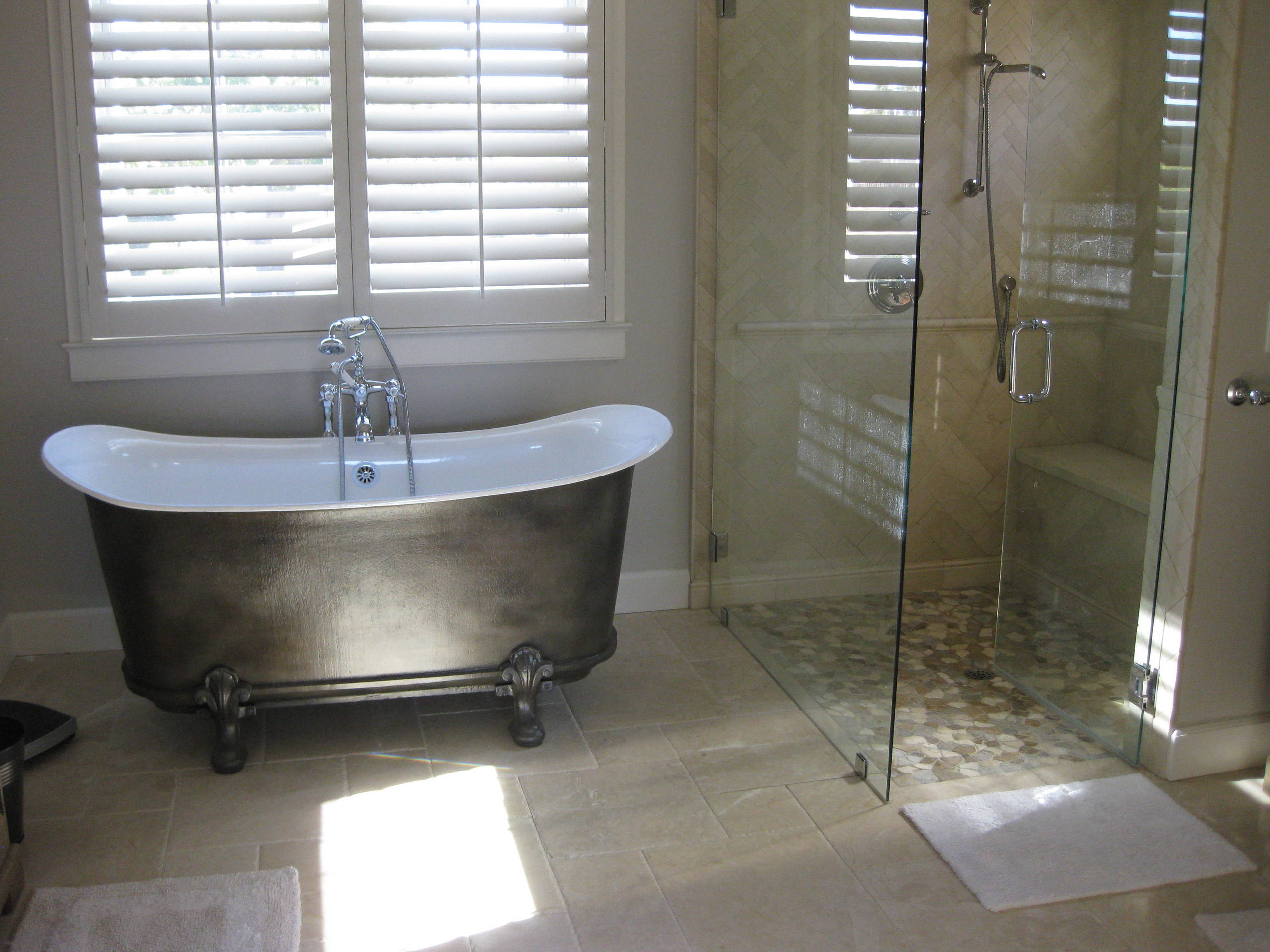 Irish Sea Master Bathroom with Recessed Shower