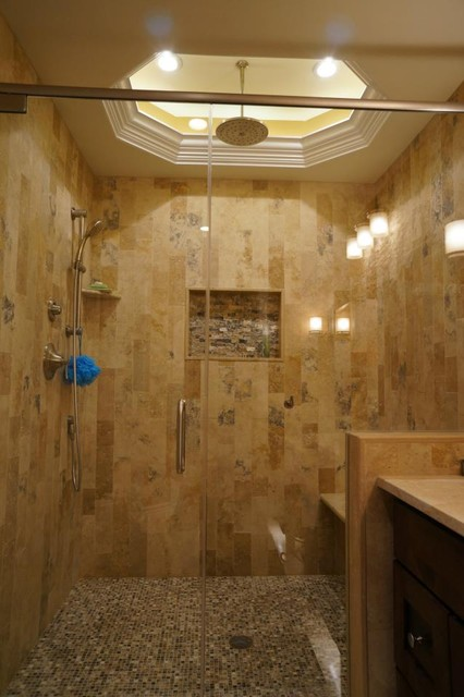 Irox Plank Set Shower Traditional Bathroom Philadelphia By Stonemar Natural Stone