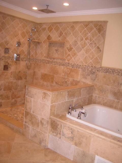 Irox Travertine Bathroom - Traditional - Bathroom - philadelphia - by StoneMar Natural Stone ...