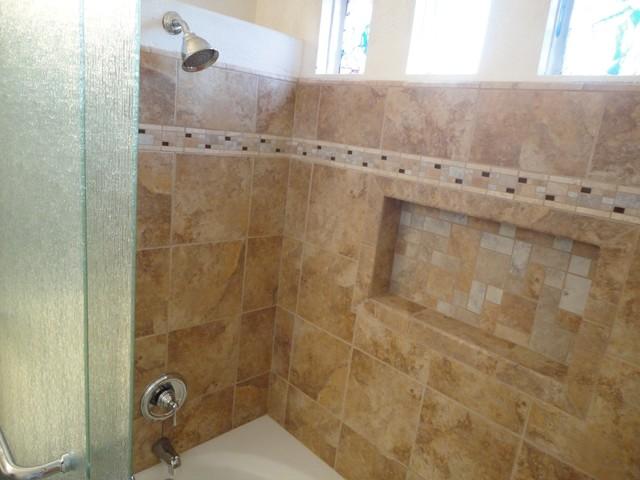 Irvine Soaking Tub With Rain Glass Shower Doors Amp Recessed