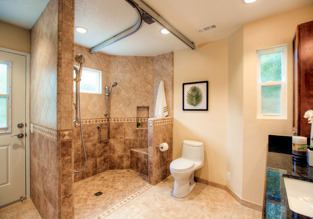 Irvine Universal Design Ada Bathroom Traditional Bathroom Orange County By Vision Interiors