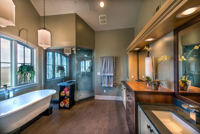 Isabelle ranch contemporary bathroom denver by for Modern ranch bathroom