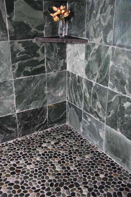 Island Stone Java grey perfect pebble floor 2 tile
